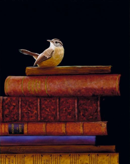 122-Carolina-Wren-Bird-Painting-Collectible-Books