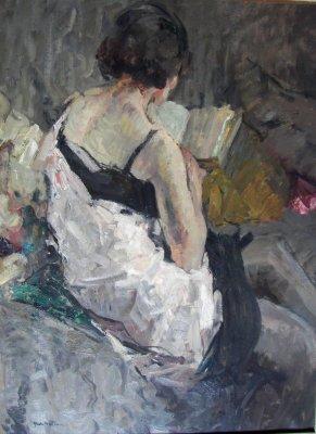 Abel Bertram (França, 1871-1954)Leitura, ost, col. part. wwwabelbertramcom
