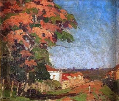 Archimedes Dutra, Paisagem rural, 1939, osm, 22 x 26 cm