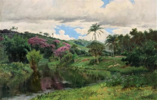 BAPTISTA DA COSTA, João, Rio Piabanha (Sapucaieiras),ost, 1904, 61 x 95 cm