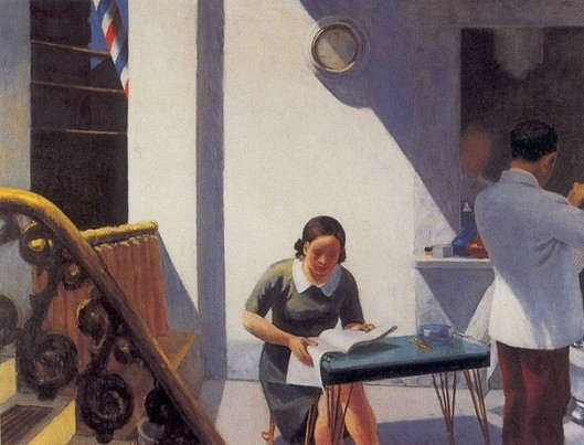 EdwardHopper -- The Barber Shop, 1931
