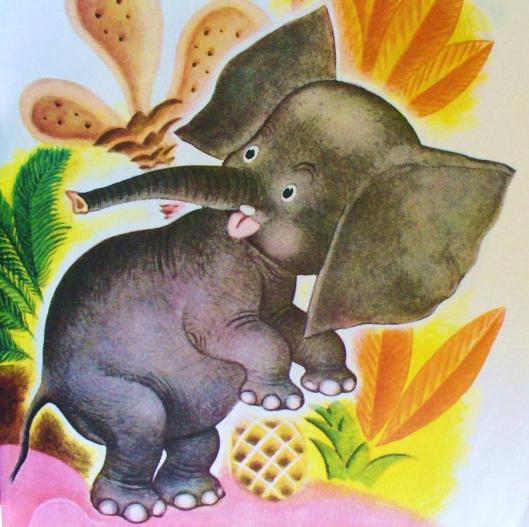elefante e abacaxi
