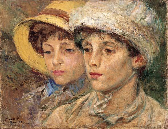 Eliseu Visconti, retratos de familia