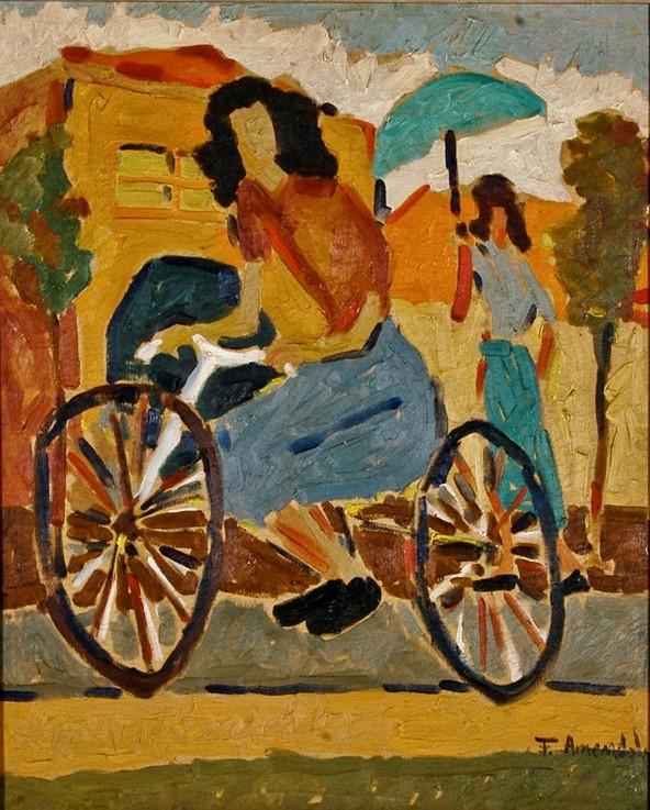 francisco amêndola, menina-da-bicicleta-figura-1950-50-x-60-cm-1-bienal-de-sc3a3o-paulo-19511