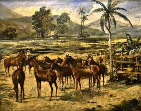 LUCILIOS DE ALBUQUERQUE - óleo s tela, datado 1923, 1,07 m x 85 cm.