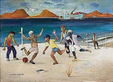 NewtonRezende(1912-1994)PeladademeninosnumapraiaperdidadeNiteroi,ose,31x40