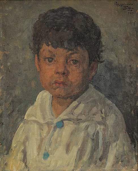 PRESCILIANO SILVA (1883-1965)Retrato.ost,1933, 49 x 39 cm