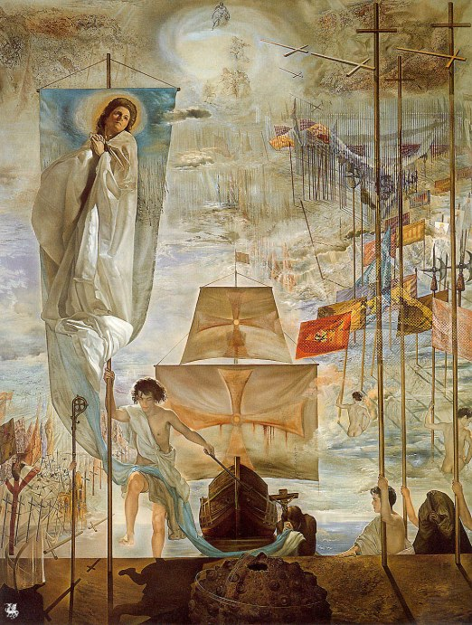 Salvador Dali (Espanha, 1904-1989) A descoberta da América,  1959, ost, 410 x 284 cm, Museu de  São Petersburg o, Florida.jpg