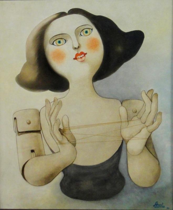SAMI MATTAR (1930),Cama de gato,1974,ost,55 X 46