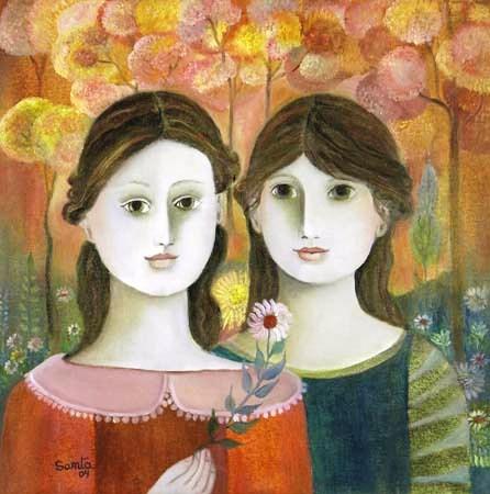 Santa, Irmãs no bosque,2004, ost, 50x50cm