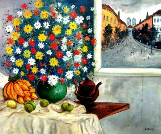 Sylvio Pinto, Vaso com flores, ost, 106x127cm