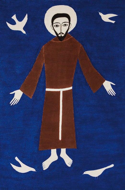 VOLPI, Alfredo,São Francisco,têmpera stela, (c. 1958)108 x 72 cm