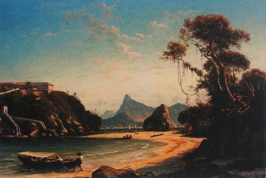 HENRI NICOLAS VINET - Vista da praia e da Ilha da Boa Viagem, 1875 - Óleo sobre tela - 46 x 67,5 - Museu Imperial, Rio de Janeiro