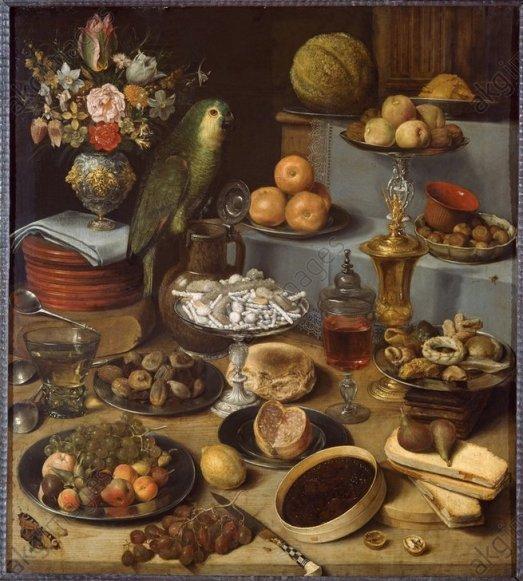 G.Flegel/Großes Schauessen/Stilleben1622 - G.Flegel / Large Food Display / 1622 -