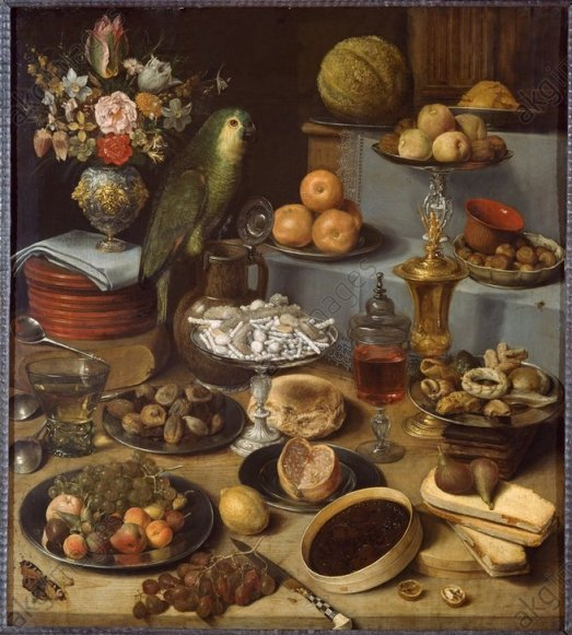 G.Flegel/Großes Schauessen/Stilleben1622 - G.Flegel / Large Food Display / 1622 -