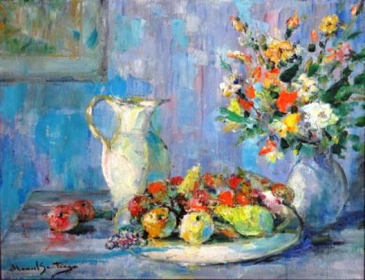 MANOEL SANTIAGO (1897 - 1987) Natureza Morta - Jarra, Frutos e Flores