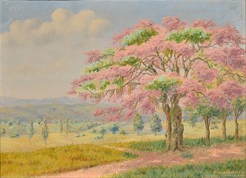 FUNCHAL GARCIA (1899 - 1979) - No caminho de são Thomé das Letras - MG, óleo s tela, 74 x 100