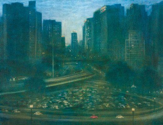 Gregório Gruber, Viaduto do Chá, 155 x 200 cm,óleo sobre tela