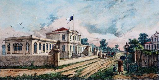 Hospital_D_Luiz.Joseph Léon Righini (Turim, Itália ca.1820 - Belém PA 1884).