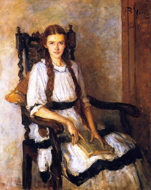 John Butler Yeats,(irlanda, 1839 – 1922) Mary Lapsley Caughey, 1916, ost, 105x84cm,National Gallery of Ireland