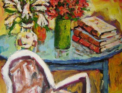 Jorge Franco (1955) Flores e llivros, ost, 80x100