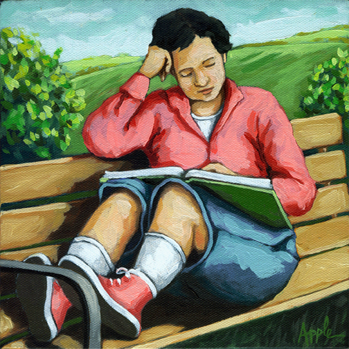 Linda Apple (EUA, contemp)Momento à sós, 2010, ost, 20 x 20 cm