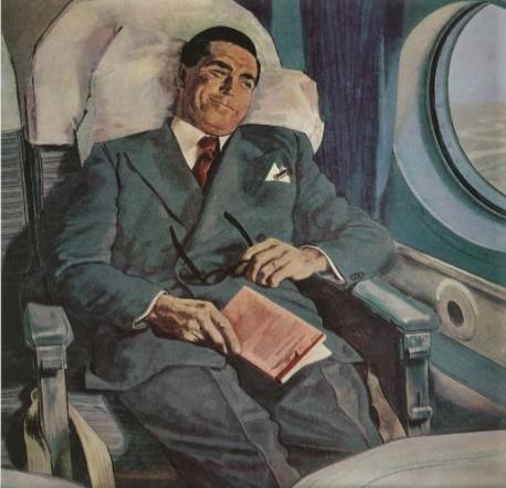 Pausa na leitura em viagem de avião