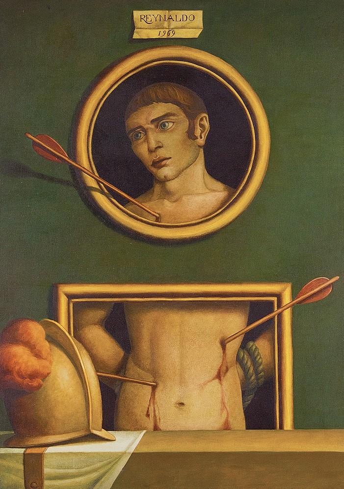 Reynaldo Fonseca (Brasil, 1925) São Sebastião,Óleo sobre tela,100 x 73 cm