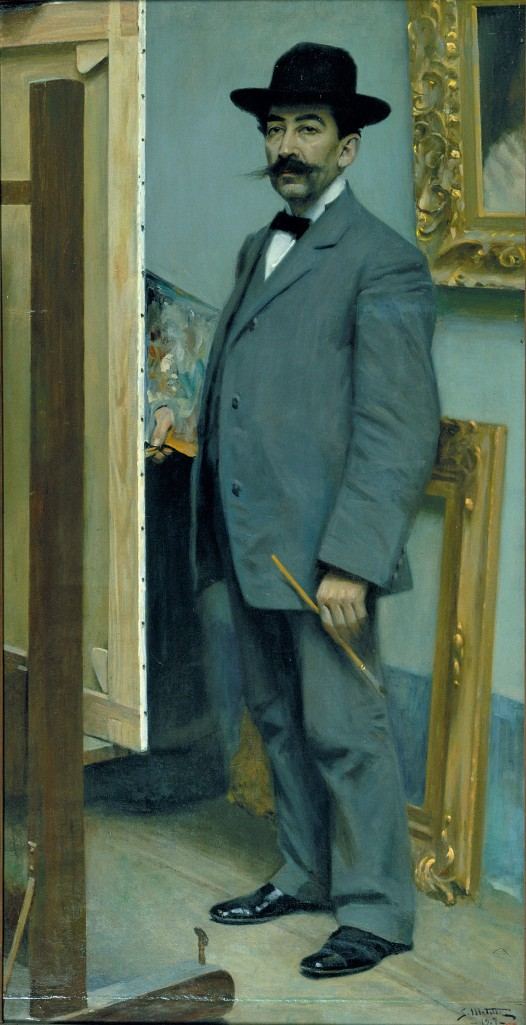 Segundo Matilla(Espanha, 1862-1937) Autorretrato, 1907-, ost, 167x 85, Museu Nacional d_art de Catalunya.