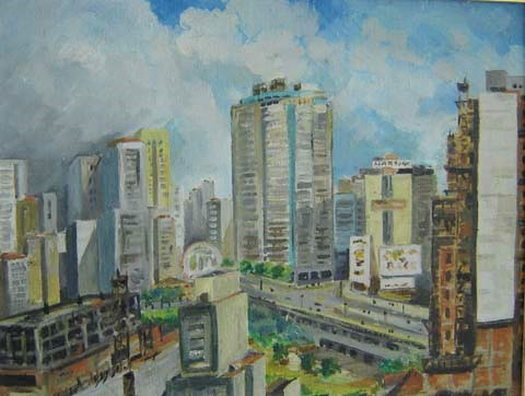 Vicente Mecozzi (1909-1964)São Paulo,Óleo sobre tela -27 x 35 cm