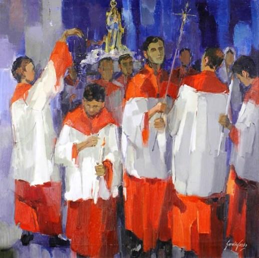 Geraldo de Castro, Procissão, ost, 90x90
