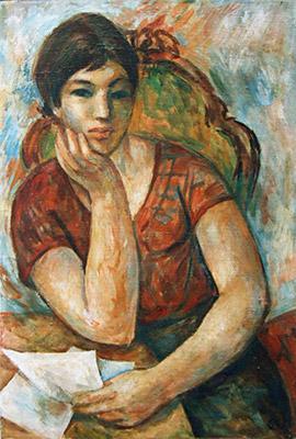 Manfred Neumann (alemanha, 1938)leitora, 1968, ost, 80 x 60.www.manfred-neumann-malerei.de