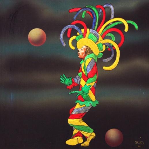 Mario Gruber, fantasiado- 2001, ast, 55x55