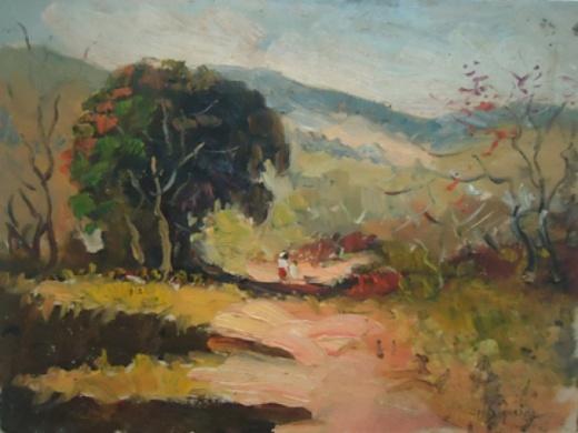 NILO SIQUEIRA (brasil, 1943) - osp ( paisagem ) 18 x 24 cm.