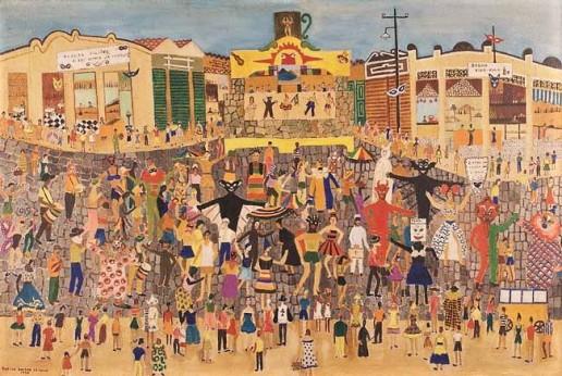 Rosina Becker do Valle,Carnaval,ost,1956, 63 x 96 cm
