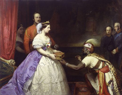767px-The_Secret_of_England's_Greatness'_(Queen_Victoria_presenting_a_Bible_in_the_Audience_Chamber_at_Windsor)_by_Thomas_Jones_Barker