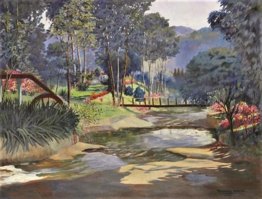 Fernando Martins,Cascata dos Amores - Teresópolis OST, 90 x 120 1956