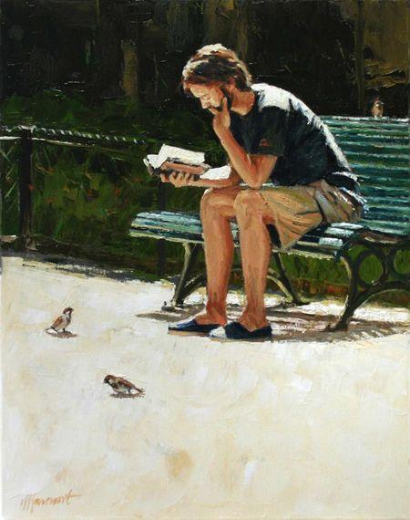 Richard van Mensvoort, (Holanda, 1972) Summer 2, Olieverf op doek, 50x40 cm