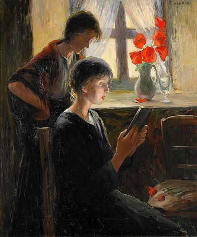 Allan Österlind. (1855 - 1938)The women at the windows,