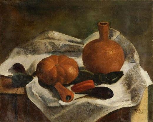 BURLE MARX, Roberto,Moringa e Legumes Sobre Mesa,óleo stela, 1938 61 x 74 cm