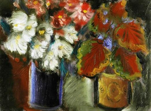 Carlos Bracher, Flores, ost, 1988, 81 x 60 cm