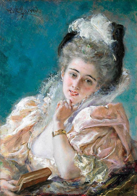 Eduardo Leon Garrido (Spanish painter, 1856-1949) Lost in thought