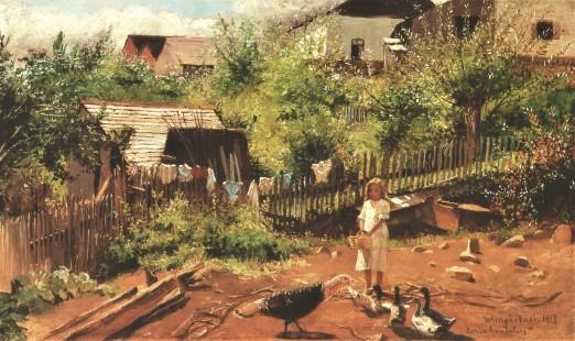 Fundo de quintal em Bento Gonçalves, 1913 - Pedro Weingärtner
