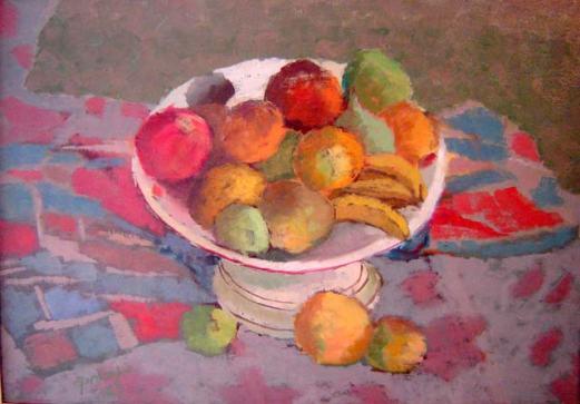 J. Procópio de Moraes (1929)Fruteira,1967,Óleo sobre tela,65 x 46 cm