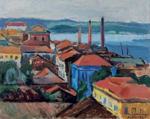 KAMINAGAI, Tadashi, São Luís,ost, 1953 e sit. São Luís inf. dir.,53 x 71,5 cm