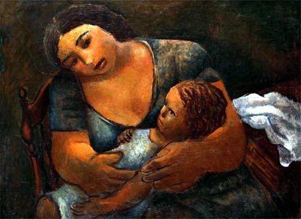 Maternidade, -1937-óleo- sobre tela-60 x 75 cm