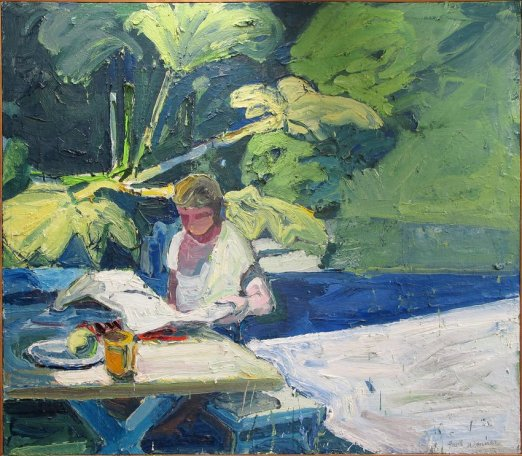 Paul Wonner The Newspaper 1960 painting oil on canvas, 120x 138