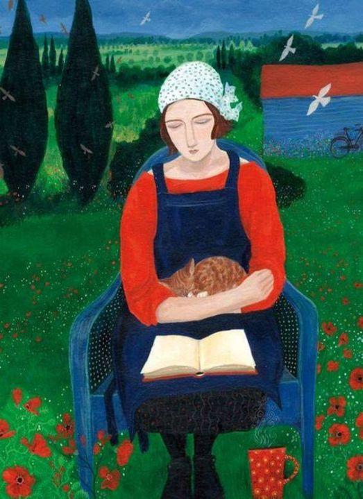 Dee Nickerson (GB, 1957) Absorta, acrílica