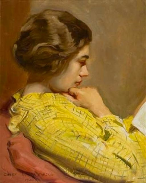 Sidney Edward Dickinson (American, 1890-1960) - Woman Reading,1936