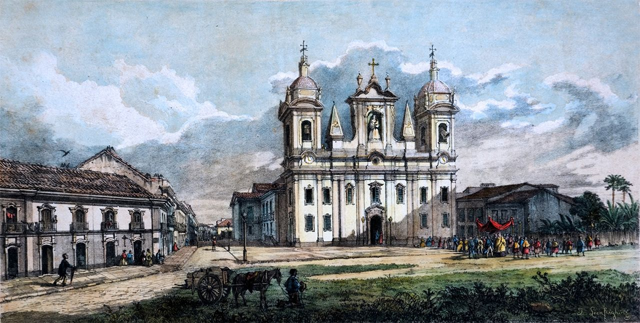 Cathedral.Joseph Léon Righini (Turim, Itália ca.1820 - Belém PA 1884).